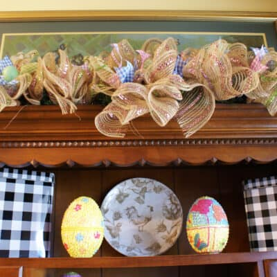 My Easter Hutch Vignette and Décor